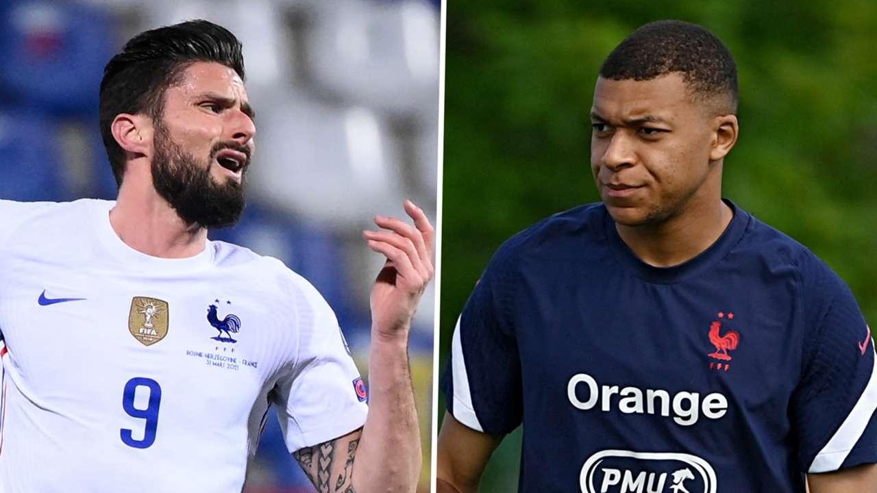 Olivier Giroud Kylian Mbappe France GFX
