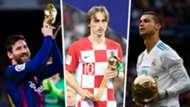 Lionel Messi Luka Modric Cristiano Ronaldo awards