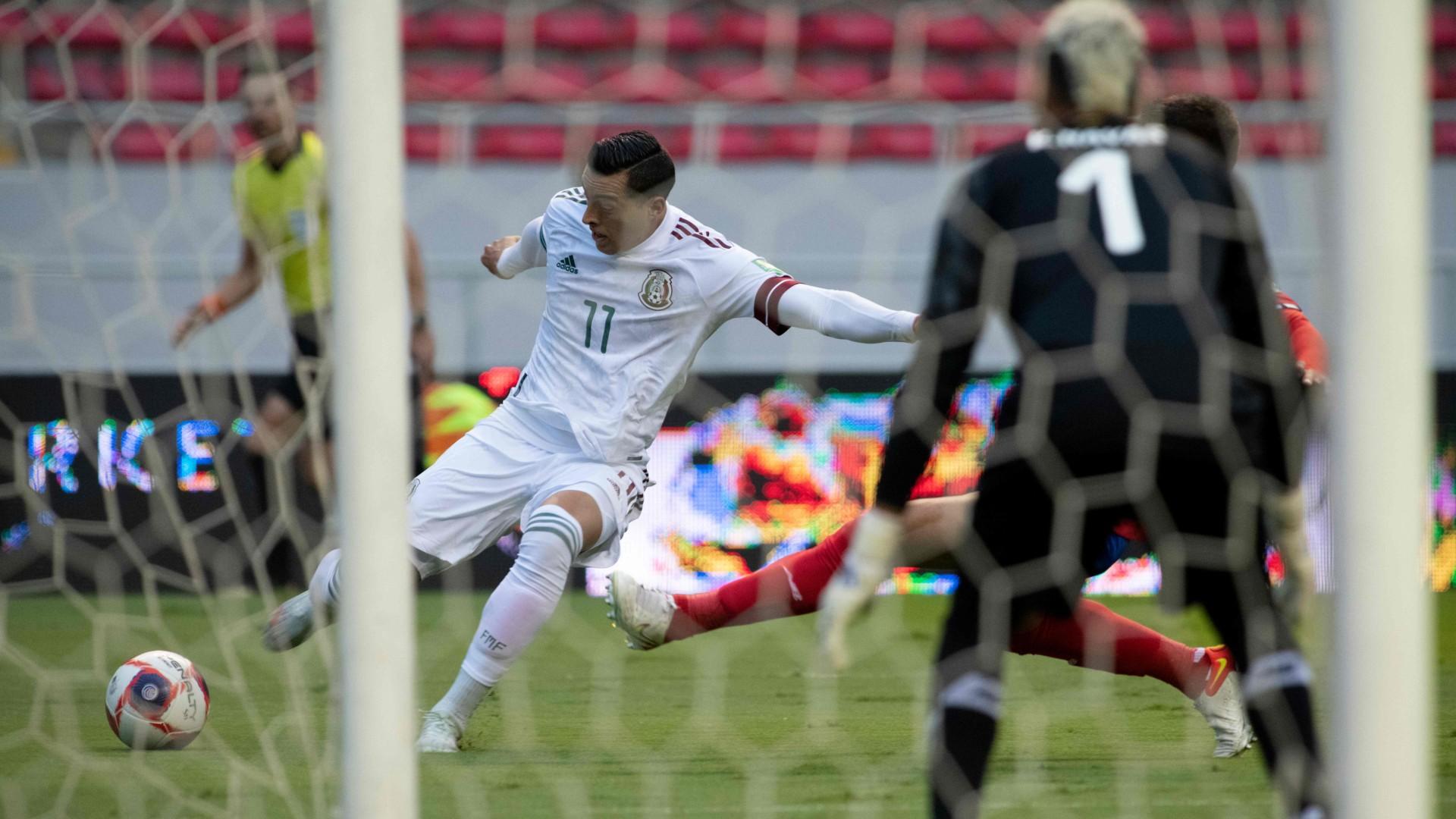 México vence apretadamente a Costa Rica y sigue de líder; Orbelín Pineda marcó el único gol del juego