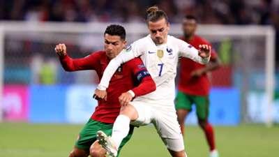 Cristiano Ronaldo, Griezmann - Portugal France Euro 2020 23062021