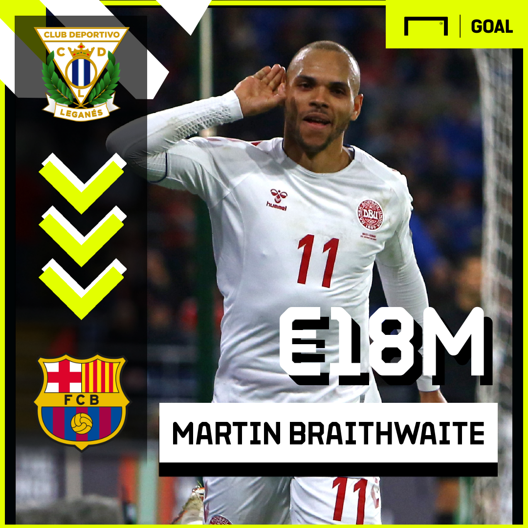 Barcelona sign Martin Braithwaite from Leganes