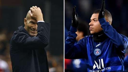 """Real Madrid - Zinédine Zidane : """"Kylian Mbappé ? Pas ma préoccupation actuellement""""   Goal.com"""