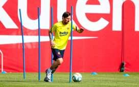 Messi entrenamiento coronavirus barcelona