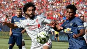 Mohamed Salah Liverpool Demetri Mitchell Manchester United
