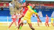 Clifford Alwanga of Mathare United v Bandari.