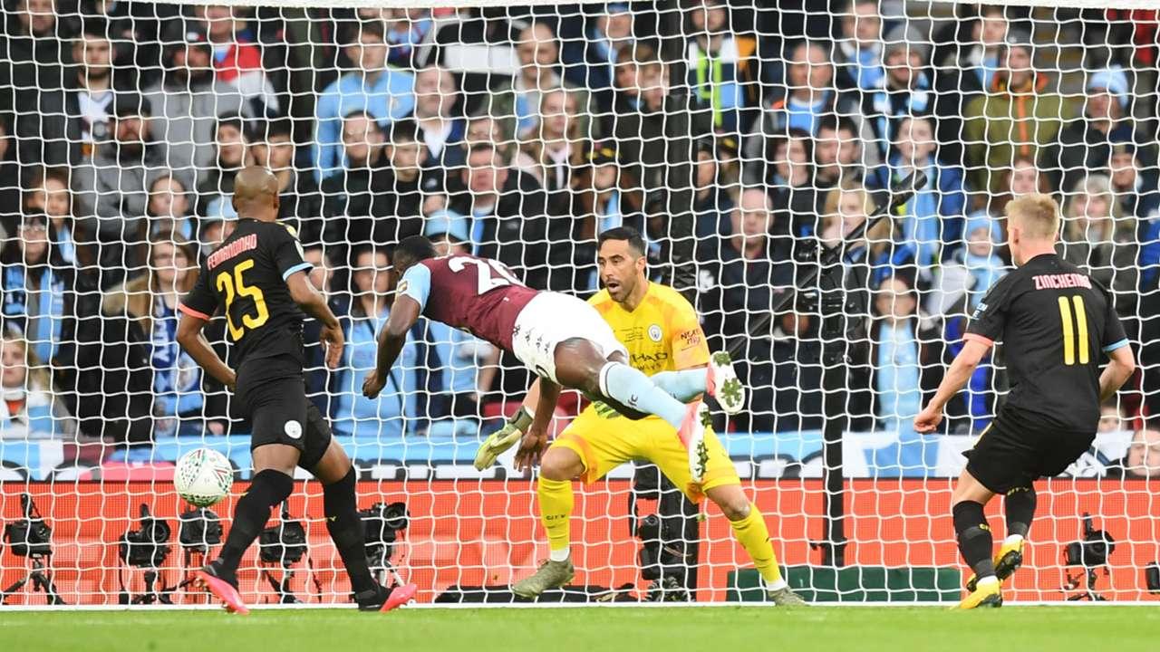 Mbwana Samatta Aston Villa vs Manchester City Carabao Cup final 2019-20