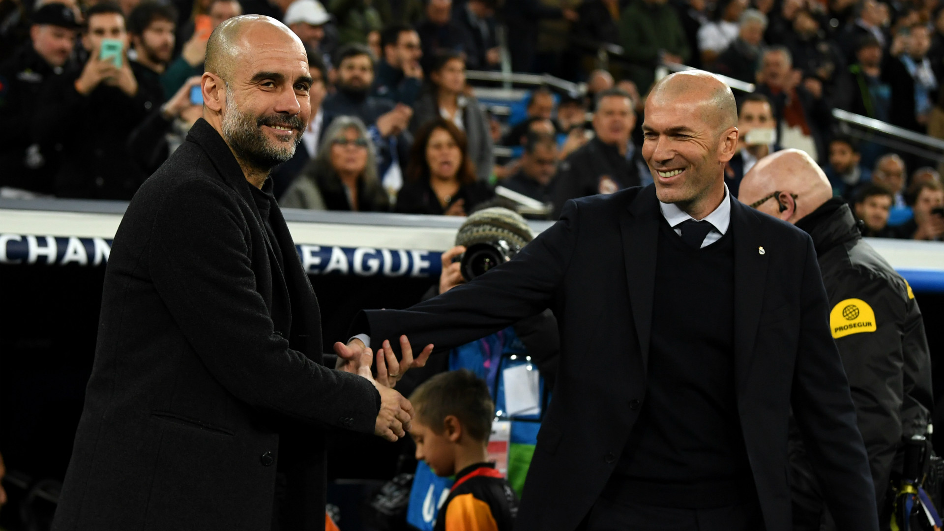 Pep Guardiola Zinedine Zidane Manchester City Real Madrid 2019-20