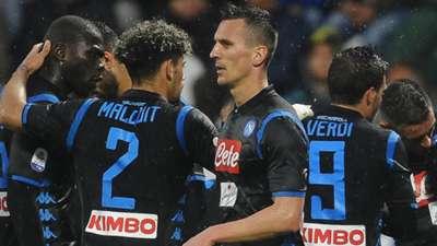 SPAL Napoli celebration