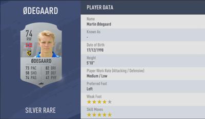 Odegaard FIFA 19
