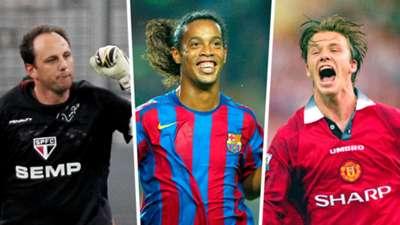 Ronaldinho David Beckham Rogerio Ceni