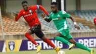 AFC Leopards SC captain Robinson Kamura and Gor Mahia.
