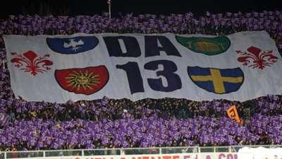 Fiorentina fans Davide Astori