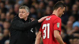 Ole Gunnar Solskjaer Nemanja Matic Manchester United 2019-20