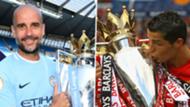 Premier League Cristiano Ronaldo Pep Guardiola Manchester City United composite