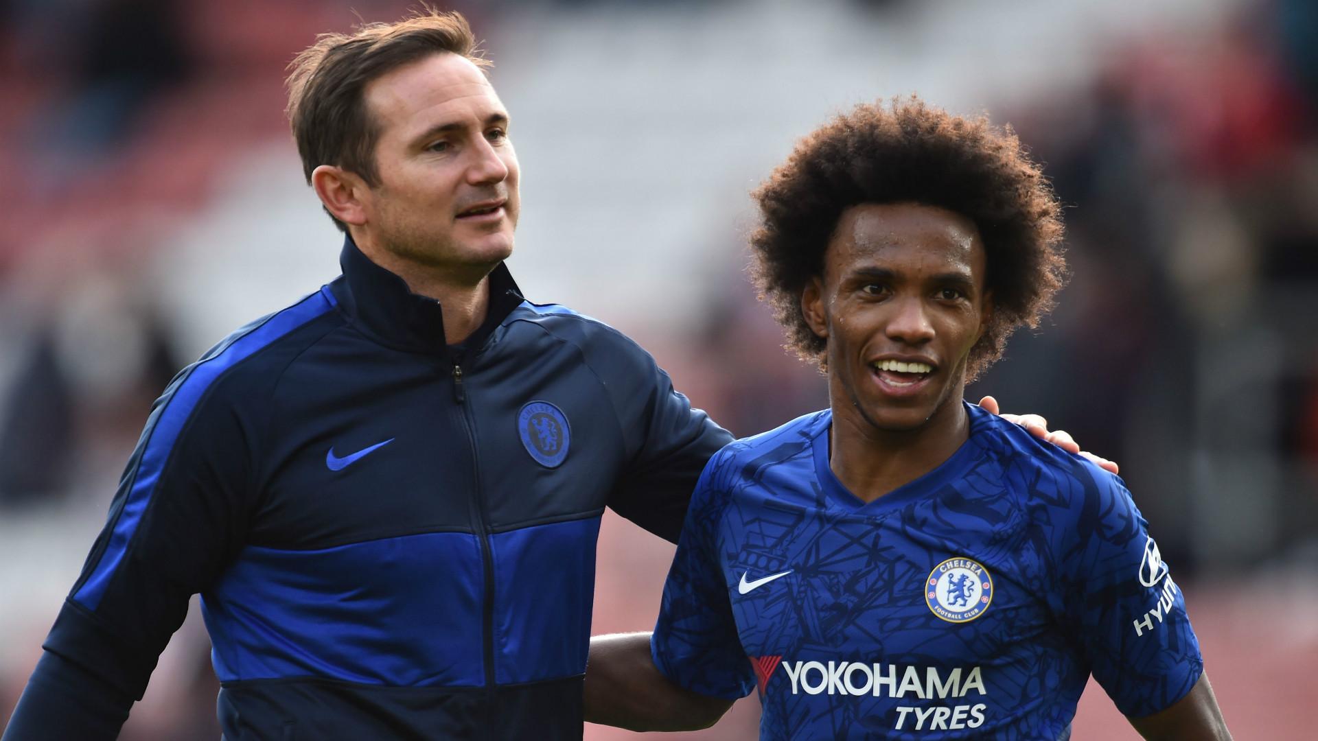 Frank Lampard Willian Chelsea 2019-20