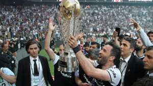 Gokhan Gonul Besiktas champions celebration