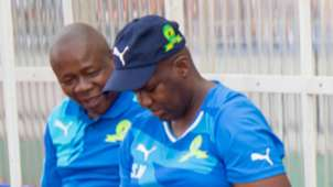 Sakhumzi Ngwevela on Mamelodi Sundowns bench - 2017
