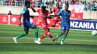 Deo Kanda of Simba SC vs Singida United.