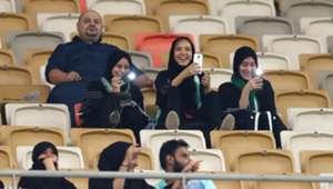 Saudi Arabian women attend football match