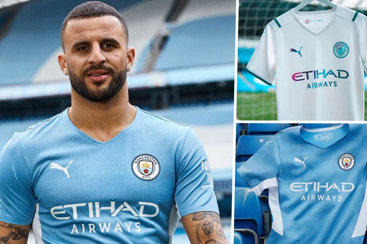 Man City 2021 22 Kit New Home And Away Jersey Styles Release Dates Goal Com