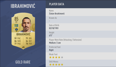 Zlatan Ibrahimovic | FIFA 19