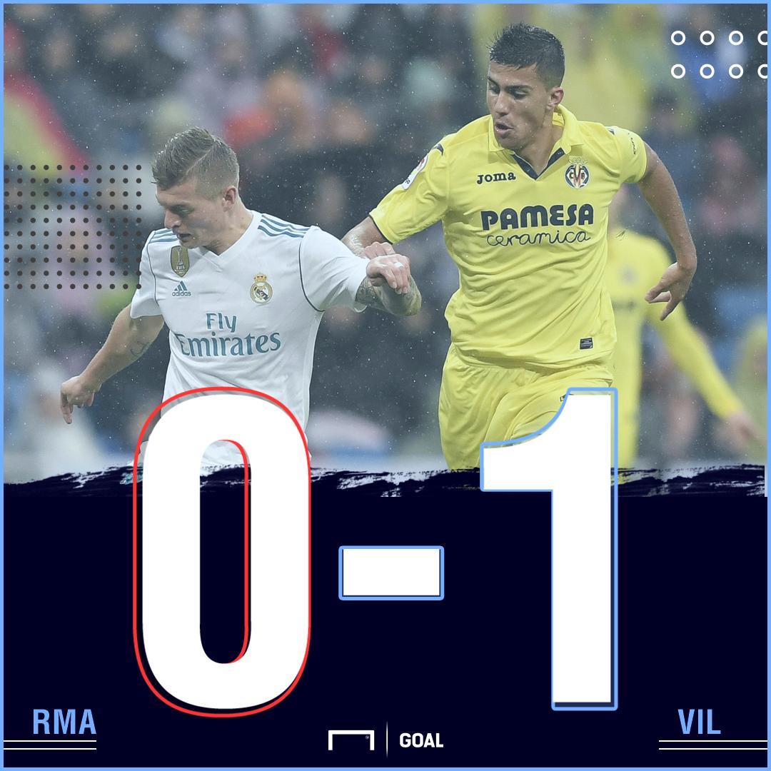 Real Madrid Villarreal score