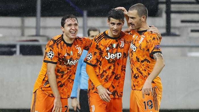 Morata celebrating Ferencvaros Juventus