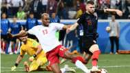 Ante Rebic Mathias Jorgensen Croatia Denmark WC
