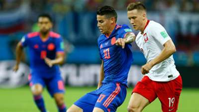 James Rodriguez Colombia Poland