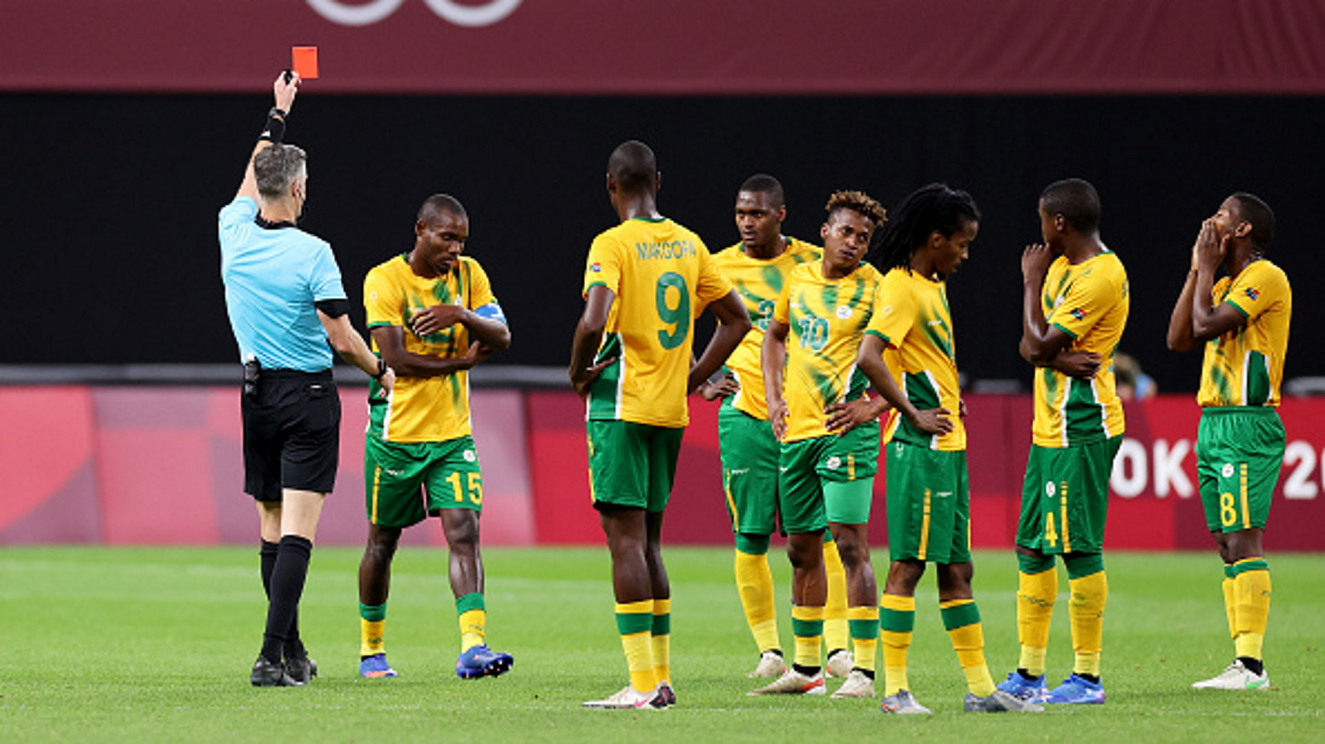 Olympics football: South Africa player ratings vs Mexico - Malepe sent off