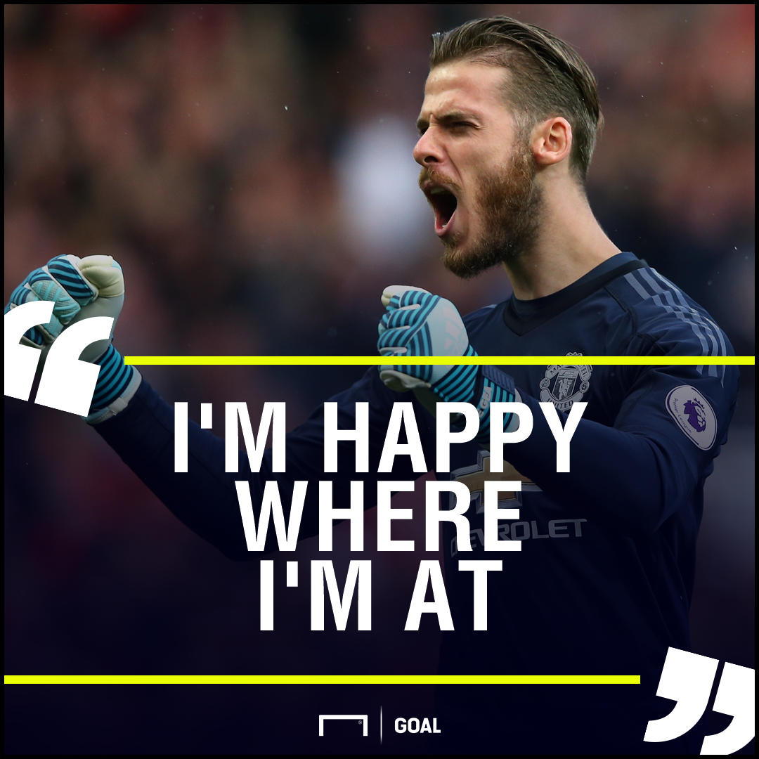 David de Gea Manchester United happy where I'm at