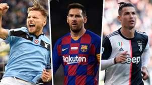 Ciro Immobile Lionel Messi Cristiano Ronaldo 2019-20