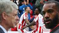 Wenger Lacazette Jese Berahino Stoke Arsenal