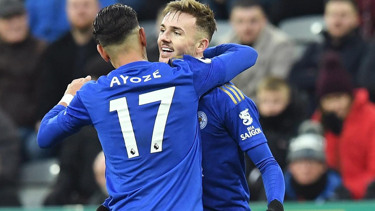 Ayoze Perez James Maddison Leicester City