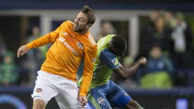 Eric Alexander of the Houston Dynamo, Nouhou Tolo of the Seattle Sounders