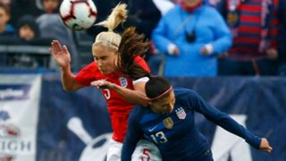 Steph Houghton Alex Morgan USWNT England SheBelieves Cup 2019