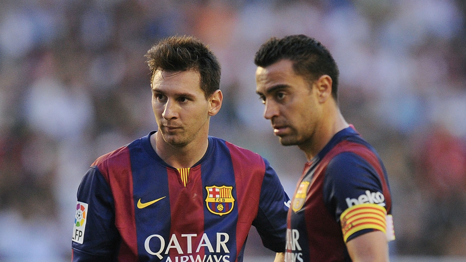I told Xavi to go to Barcelona while the God of Football, Messi ...