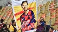 Pancarta Messi Barcelona Atlético de Madrid Supercopa de España