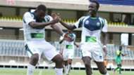 Enock Agwanda of KCB vs Kariobangi Sharks.