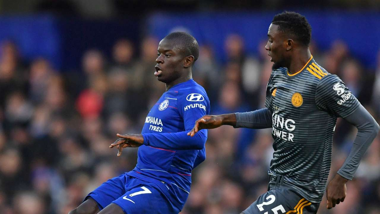 Wilfried Ndidi, NGolo Kante - Chelsea vs Leicester City