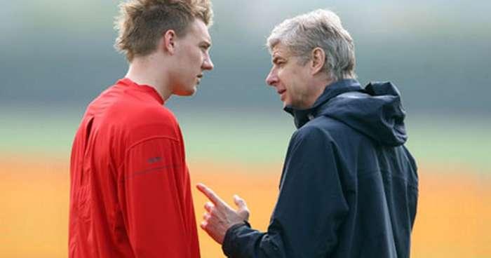 Arsene Wenger Nicklas Bendtner Arsenal