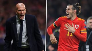 Zinedine Zidane Gareth Bale Real Madrid Wales