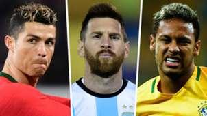 Cristiano Ronaldo Lionel Messi Neymar GFX
