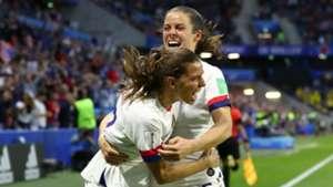 Tobin Heath Kelley O'hara USA USWNT Sweden Women's World Cup 2019