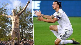 Zlatan Ibrahimovic statue split