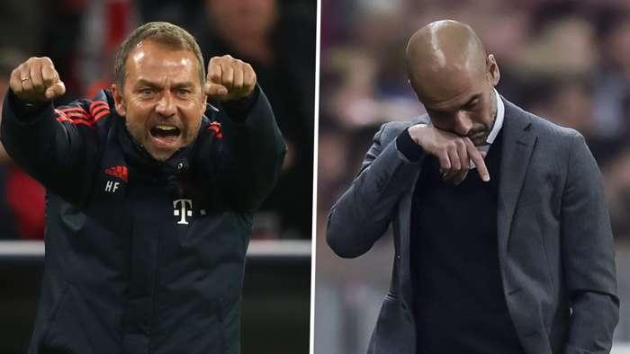 Hansi Flick Pep Guardiola Bayern Munich GFX