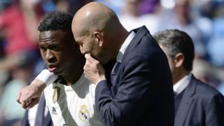 Vinicius Junior Zinedine Zidane Real Madrid 2019