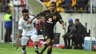 Joseph Malongoane of Kaizer Chiefs and Paseka Mako of Chippa United