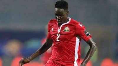 Joseph Okumu of Kenya during the 2019 Africa Cup of Nations Finals football match between Algeria.