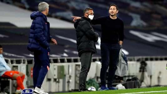 (Tottenham 1-1 Chelsea) Khẩu chiến ngoài đường biên, HLV Mourinho 'dạy dỗ' trò cũ Lampard điều gì?